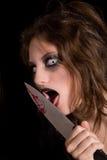 Lamedura del cuchillo imagen de archivo libre de regalías