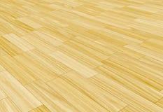 Lamellenförmig angeordneter Fußboden des Holzes Lizenzfreie Stockbilder
