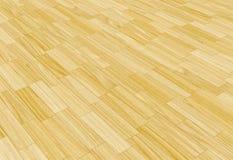 Lamellenförmig angeordneter Fußboden des Holzes Stockbild