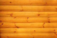 Lamelles en bois oranges avec des noeuds jointifs ensemble Images stock