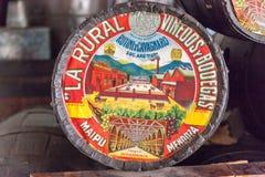 La农村标志Mendoza阿根廷 图库摄影