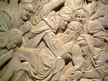 Lamentation of the dead Christ Sculpture Stock Photos