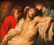 The lamentation over the dead Christ Royalty Free Stock Photos