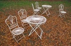 Lames blanches de meubles et d'orange Photo libre de droits