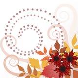 Lames d'automne avec des enroulements illustration stock