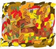 Lames d'automne dans toutes les couleurs Photo stock