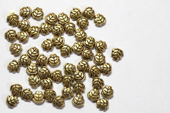 Lames de bijou d'or, se renversant Image libre de droits