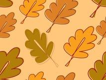 Lames de chêne d'automne illustration de vecteur