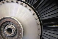 Lames de roue à aubes d'une turbine à gaz Photos libres de droits