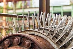 Lames de turbine de turbines Image libre de droits
