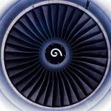 Lames de turbine de turbines de moteur à réaction Image stock
