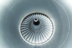 Lames de turbine de turbines de moteur d'avion Photos stock