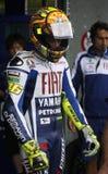 Lames de Valentino Rossi pour Ducati Photographie stock libre de droits