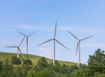 Lames de vent sur les collines douces Image stock