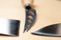 Lames des couteaux photographie stock libre de droits