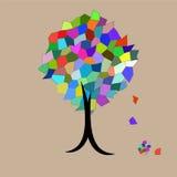 Lames en baisse d'arbre de mosaïque illustration de vecteur