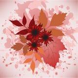 Lames et fleurs d'automne illustration de vecteur