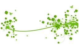 lames florales de conception de trèfle Image stock