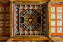 Lamesery adornado hermoso, techo que pinta el día de Dazhou Hohhot Fotos de archivo libres de regalías