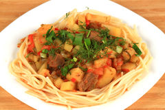 Lamian är en central asiatisk nationell maträtt Royaltyfria Bilder