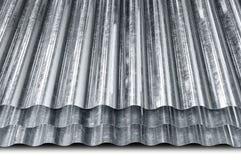 Lamiera galvanizzato metallo Fotografie Stock Libere da Diritti