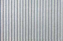 Lamiera galvanizzato - struttura ondulata della superficie di metallo con lo spazio della copia Immagini Stock Libere da Diritti