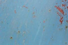 Lamiera sottile dipinta con pittura blu Immagine Stock Libera da Diritti