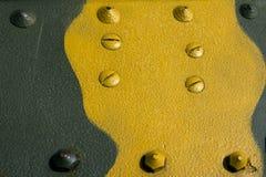Lamiera sottile giallo verde Fotografie Stock