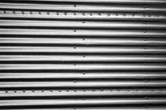 Lamiere di acciaio del metallo con i ribattini Immagine Stock