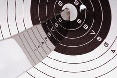 Lamierina ed obiettivo d'acciaio immagini stock