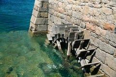 Lamierine della rotella di vecchio marea-laminatoio Fotografia Stock Libera da Diritti