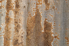 Lamina di metallo arrugginita Fotografia Stock Libera da Diritti