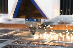 Lamina di metallo della saldatura a laser di CNC di alta precisione Fotografia Stock