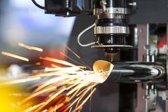 Lamina di metallo della saldatura a laser di CNC di alta precisione Immagine Stock