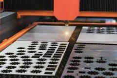 Lamina di metallo della saldatura a laser di CNC di alta precisione Fotografie Stock