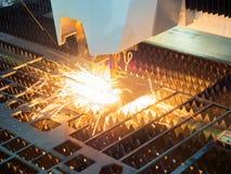 Lamina di metallo della saldatura a laser di CNC di alta precisione Immagini Stock Libere da Diritti