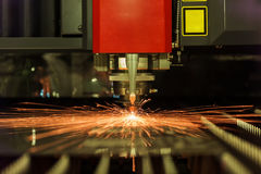 Lamina di metallo della saldatura a laser di CNC di alta precisione Immagine Stock Libera da Diritti