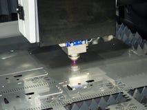 Lamina di metallo della saldatura a laser di CNC di alta precisione Immagini Stock