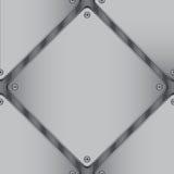 Lamina di metallo a forma di diamante fotografia stock libera da diritti