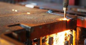 Lamina di metallo di taglio di gas di CNC di alta precisione Fotografie Stock Libere da Diritti
