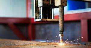 Lamina di metallo di taglio di gas di CNC di alta precisione Immagine Stock