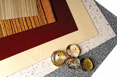 Laminant types. And glass balls Stock Images