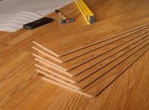 Laminate. Wood laminate floor planks Royalty Free Stock Images