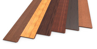 Laminate. Of different species on a white background Royalty Free Stock Photography