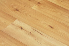 Laminate floor. Image of wood or wooden laminate floor boards close up Stock Photo