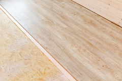 Laminate floor installation Stock Photos