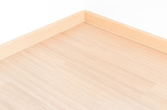 Laminate floor and white wall Royalty Free Stock Photography