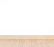 Laminate floor and white wall Royalty Free Stock Image