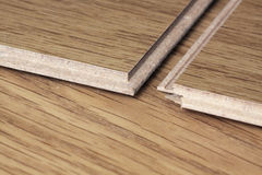 Laminate flooring Stock Photo