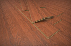 Laminate flooring Royalty Free Stock Images